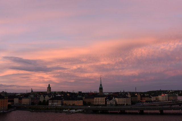 Kvällshimmel från Monteliusvägen